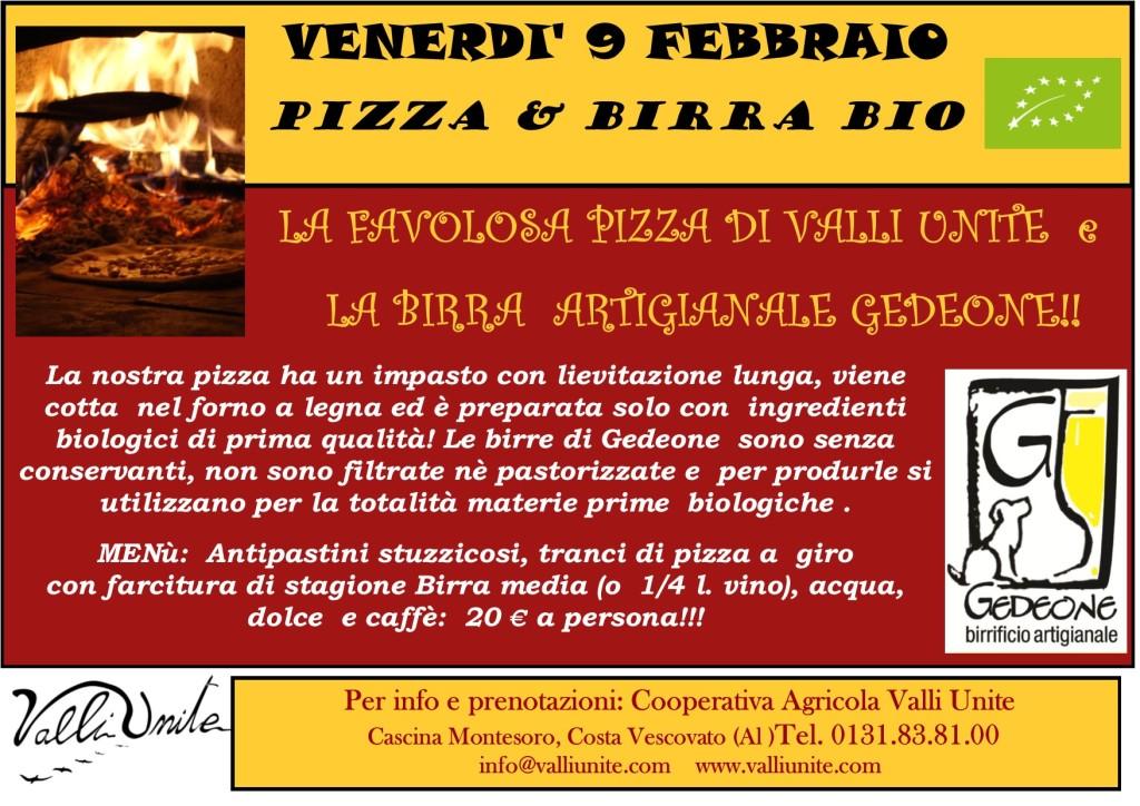 9 FEBBRAIO .18 pizza e birragedeone