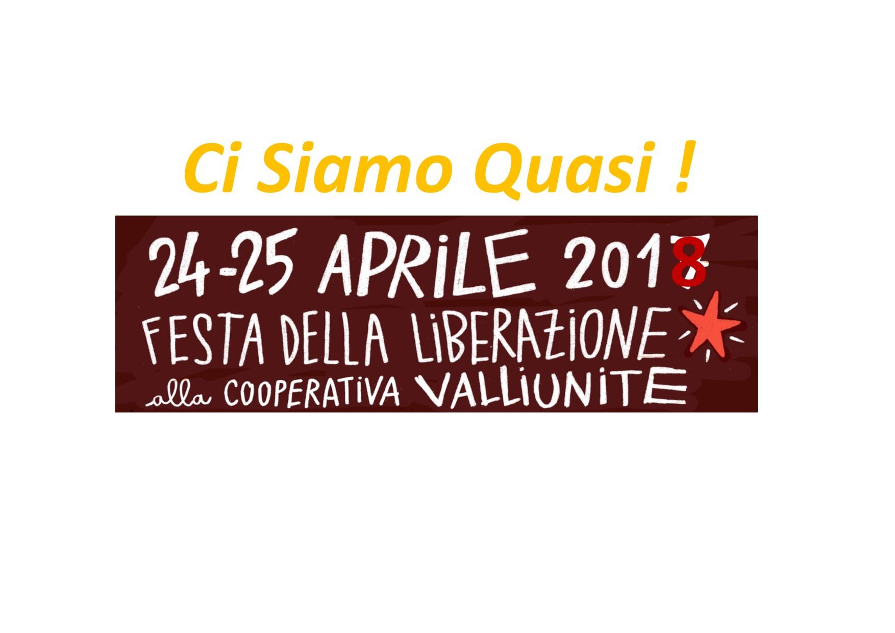 Festa della Liberazione 24 e 25 aprile