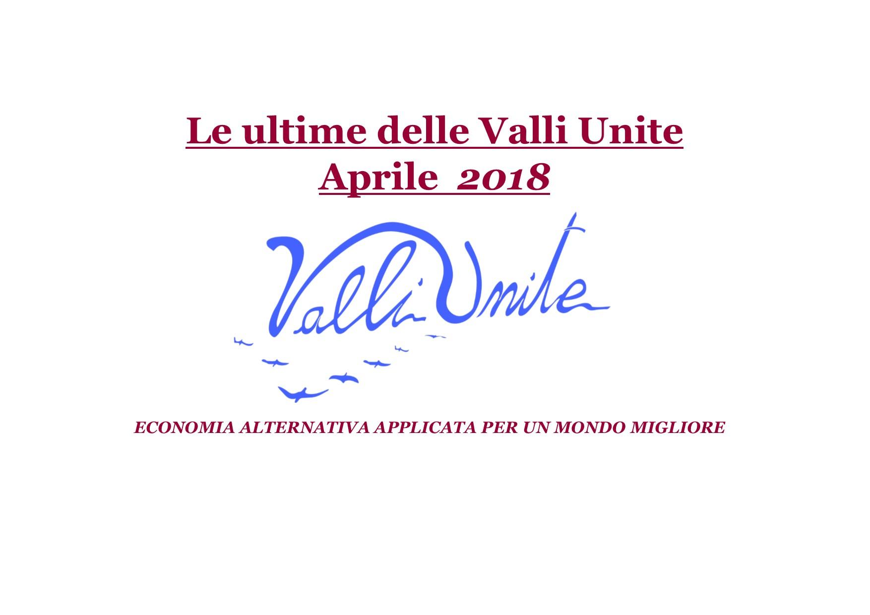 Le Ultime delle Valli Unite Aprile 2018