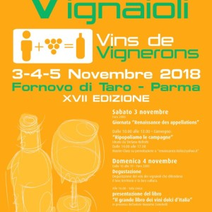 3,4,5 Novembre Vini di Vignaioli Fornovo di Taro (PR)