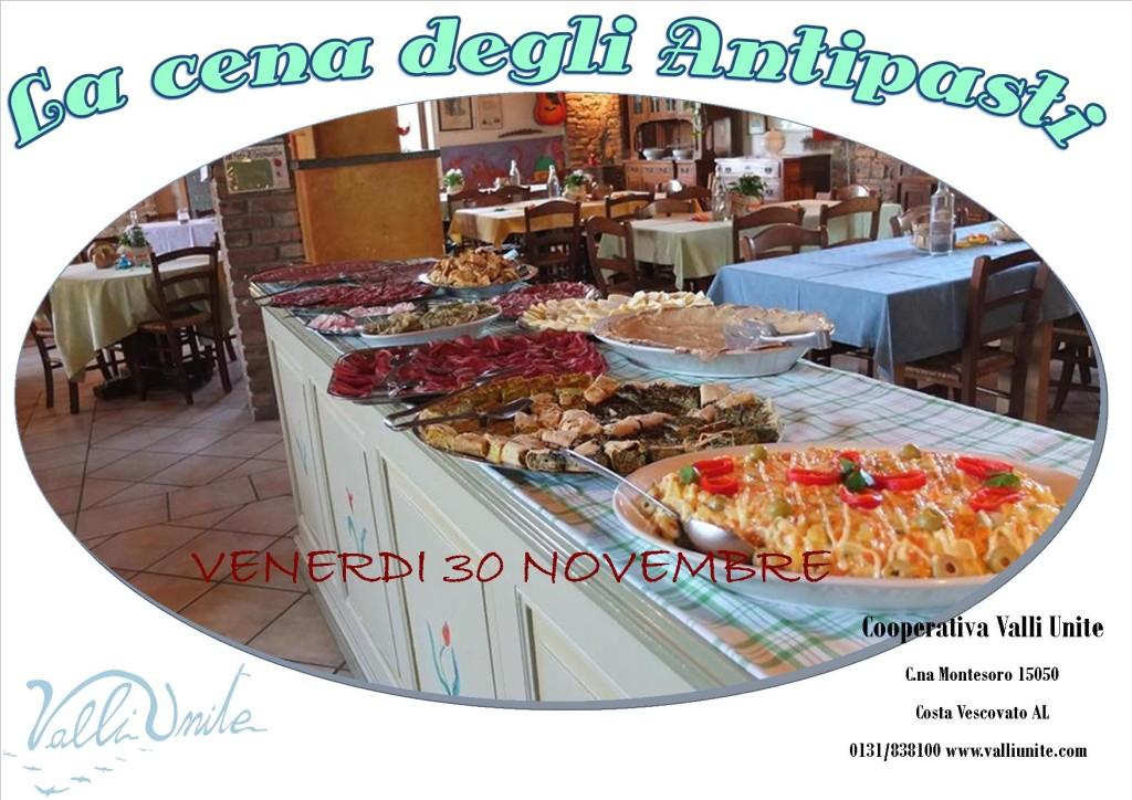 30nov2018la cena degli antipasti
