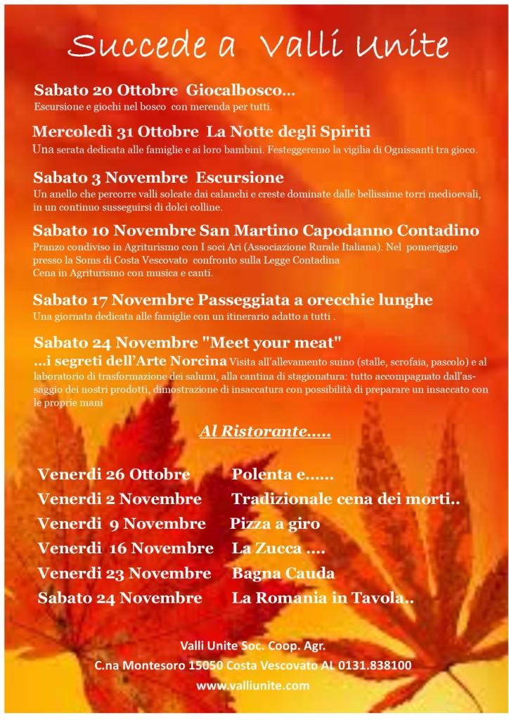 calendario autunno