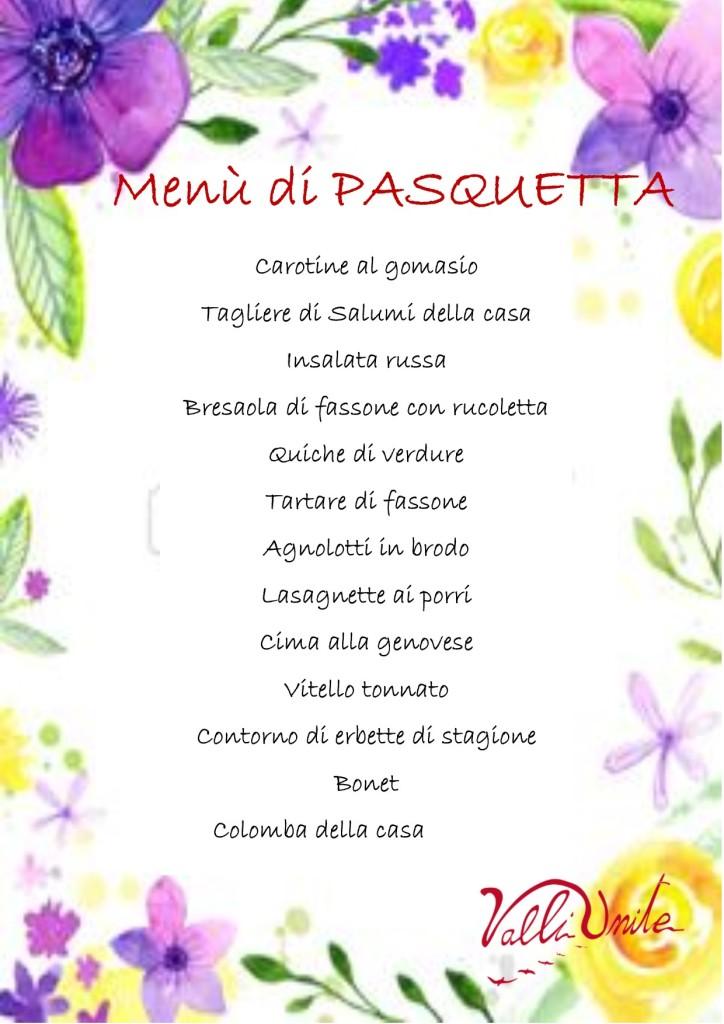 pasquetta 2019 menu agriturismo