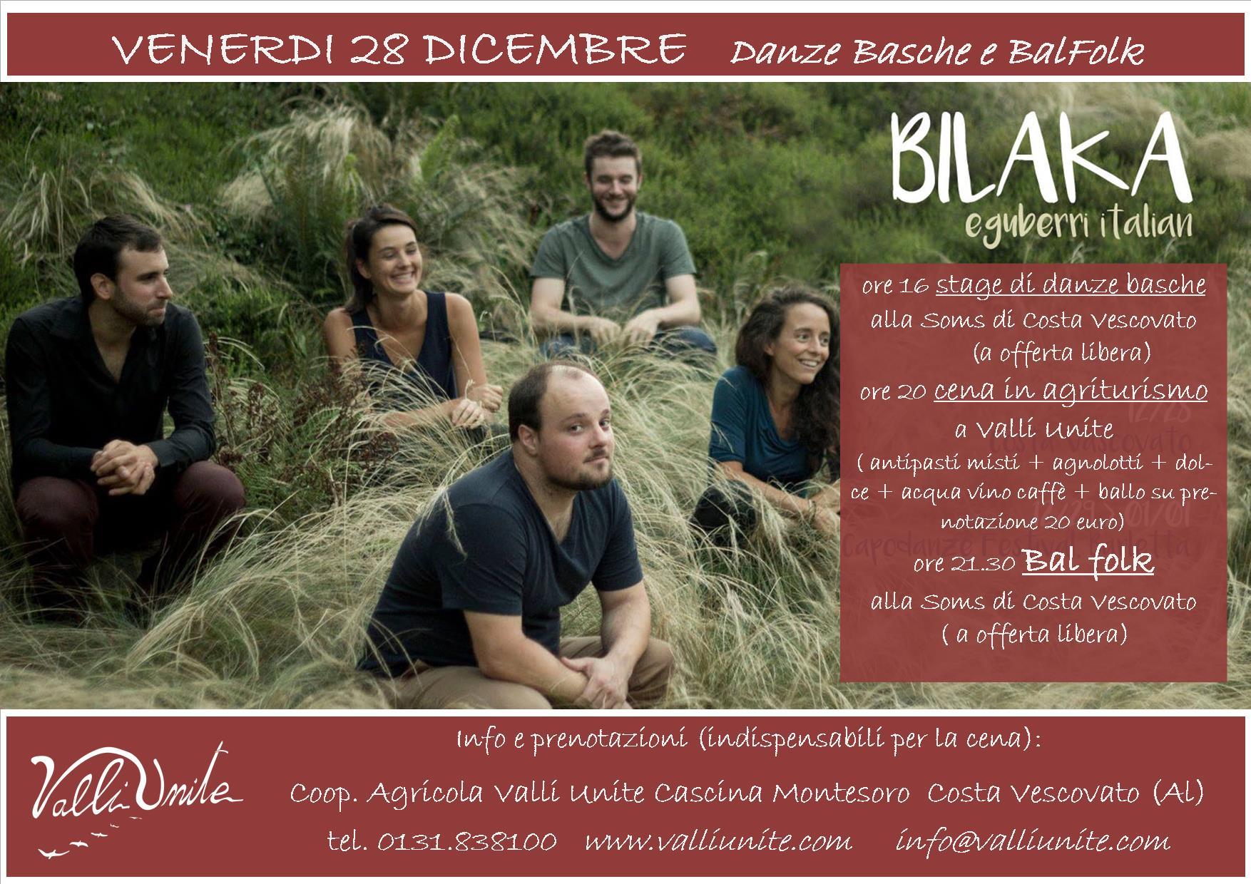 28 Dicembre Ballo Folk e Stage di danze basche