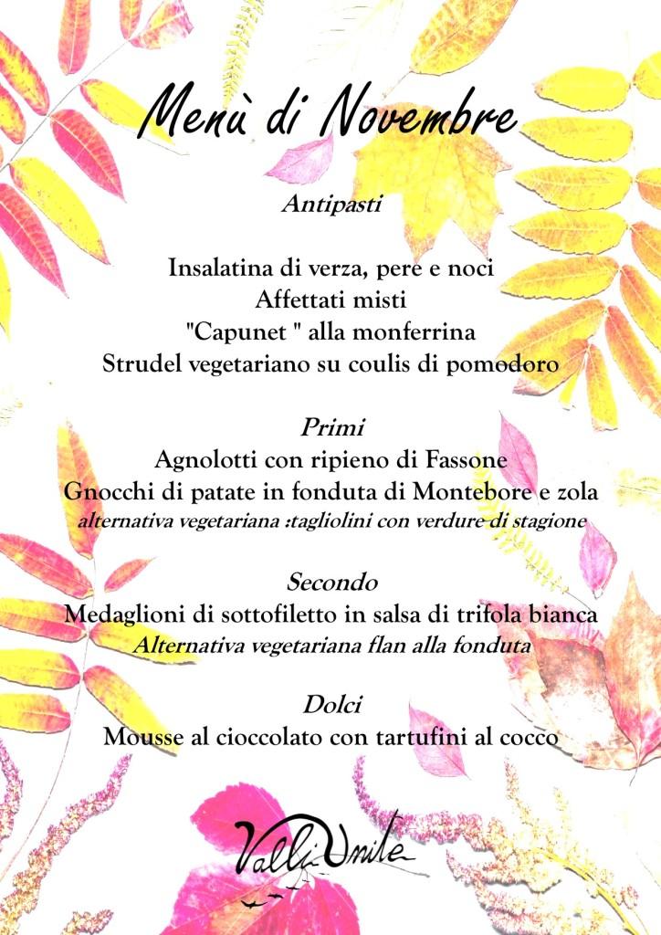 menu novembre 2019