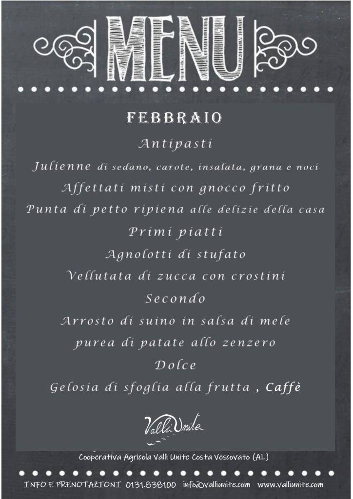menu febbraio
