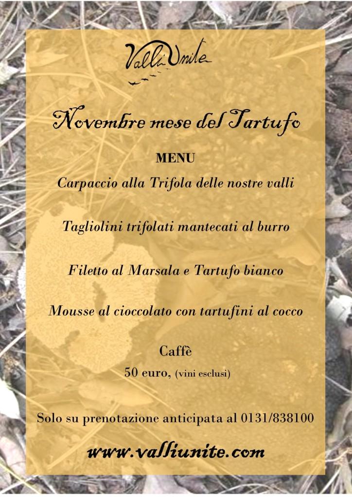 menu tartufo novembre 2019