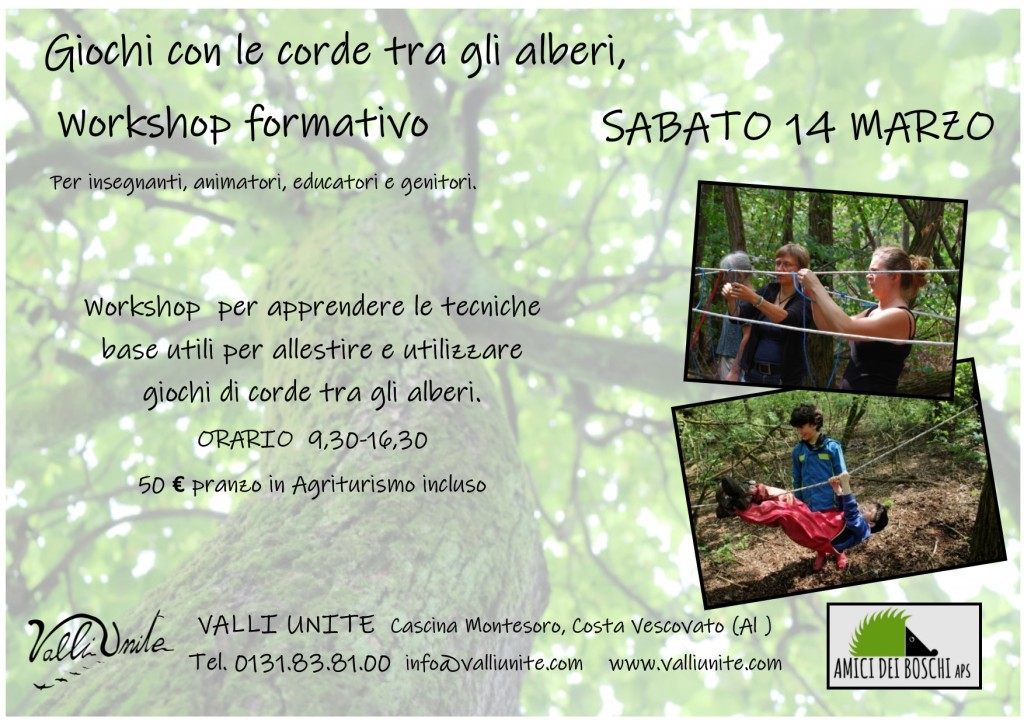 workshop corde alberi 16 marzo